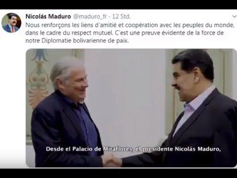 Empfang von Andrej Hunko beim Präsidenten der boliviarischen Republik Venezuela, Nicolás Maduro