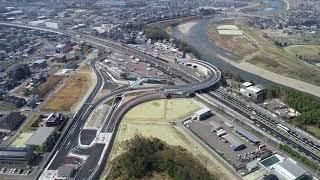 【ドローン空撮】東名高速道路 守山PA スマートIC開通
