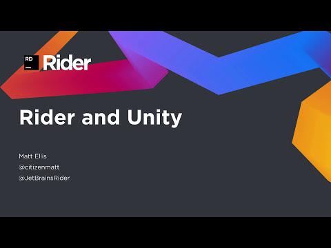 Jetbrains Rider - a mini dairy - Unity Forum