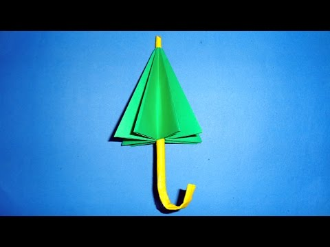 How To Make A Paper Umbrella | DIY Origami Easy.
