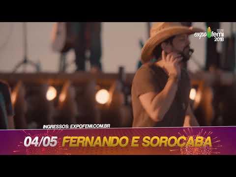 ExpoFemi 2018 - Dia 4 Fernando e Sorocoba vão balançar Xanxerê.