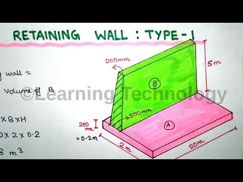 Concrete Volume Calculation of Retaining Wall By Learning Technology