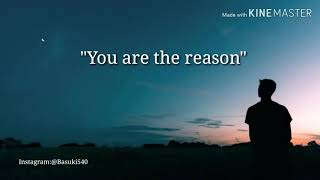 Gambar cover lagu barat sedih/calum scott-you are the reason lirik