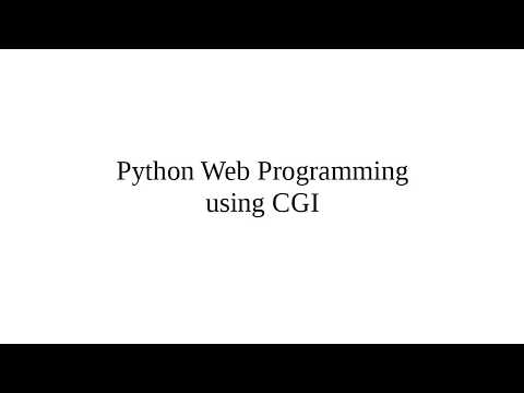 Python Web Programming using CGI