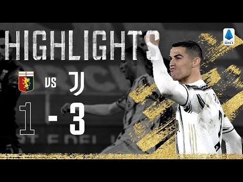 Genoa 1-3 Juventus   Ronaldo Scores Twice in 100th Juventus Match!   Serie A Highlights