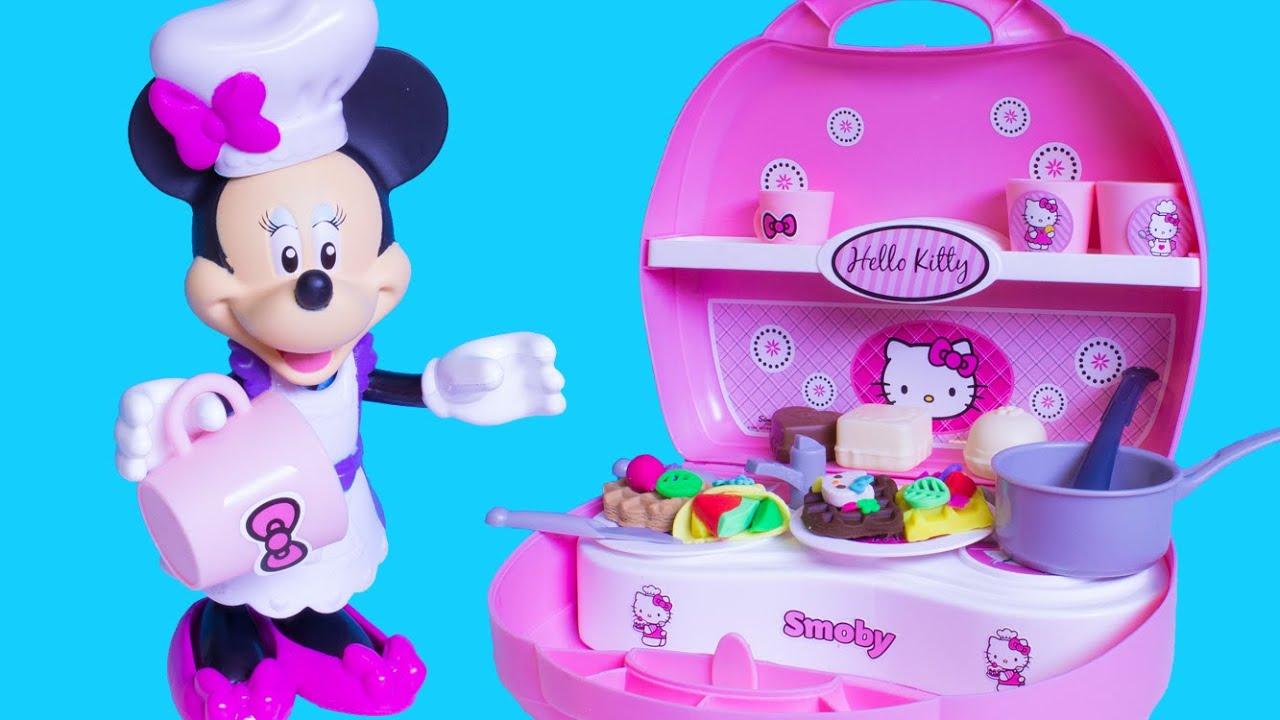 minnie's mini kitchen playset play doh hello kitty mini kitchen
