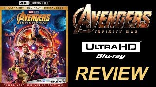 AVENGERS INFINITY WAR 4K Blu-ray Review | Dolby Atmos