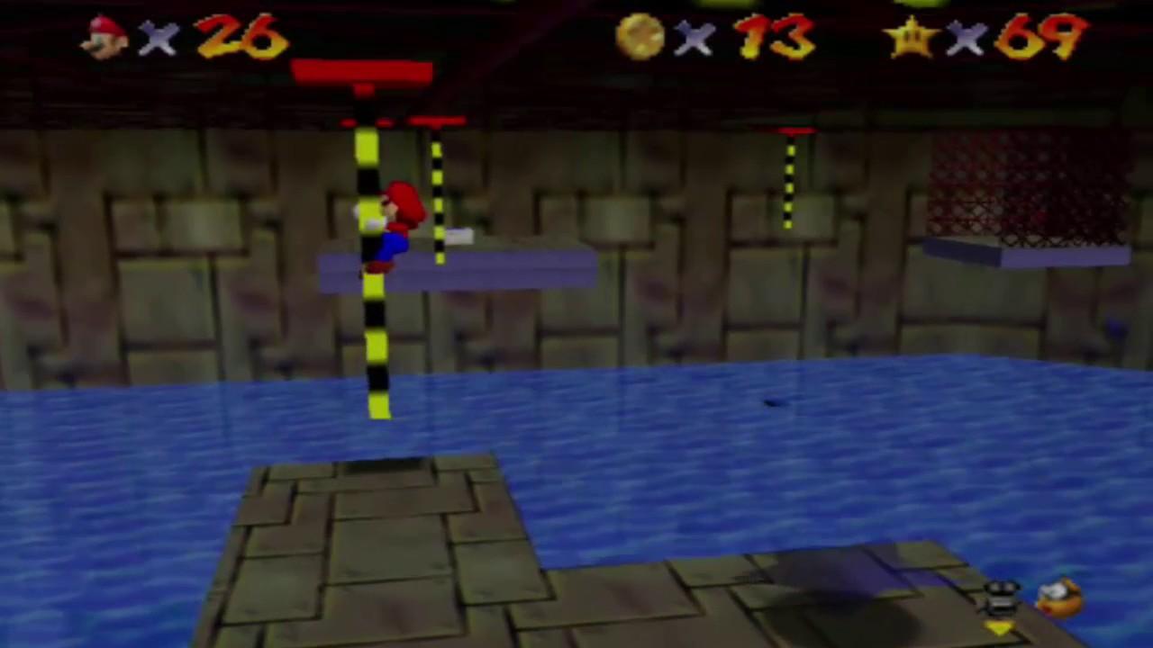 Super Mario 64 Wilde Wasserwerft Springe Zu Den 8 Roten Münzen