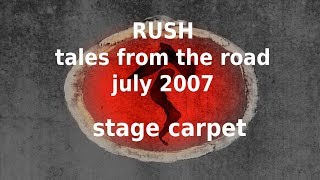 Rush - Tales from the Road - Snakes and Arrows Stage Carpet