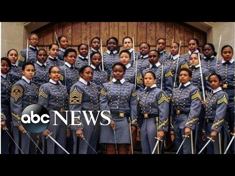 Largest class of black women to graduate from West Point