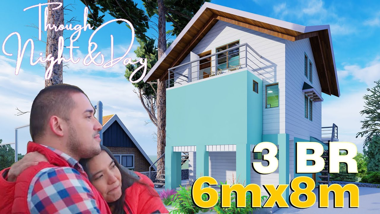 Through Night and Day House Tour - 6x8m (130 SQM) 3 Bedroom