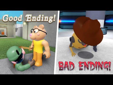 Piggy Chapter 12 Good & Bad Endings! (Roblox Piggy)