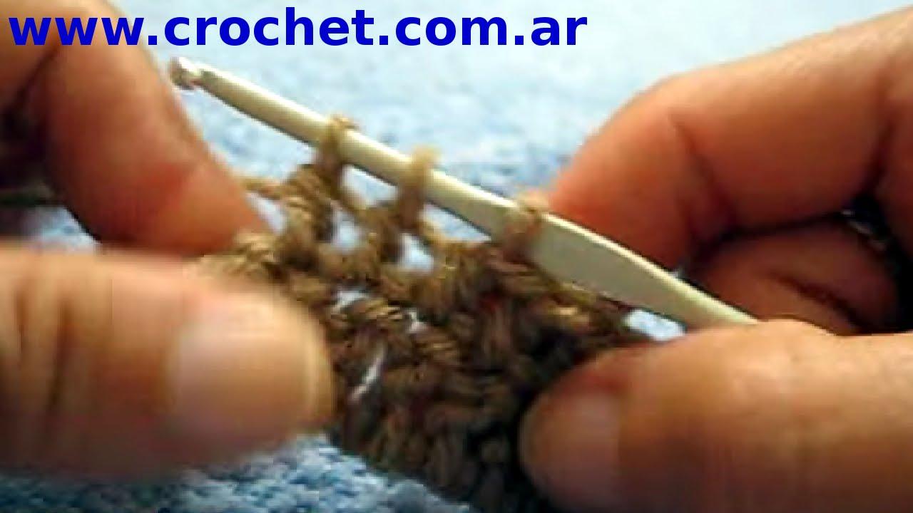 Curso crochet o ganchillo: Como disminuir en una hilera tutorial ...