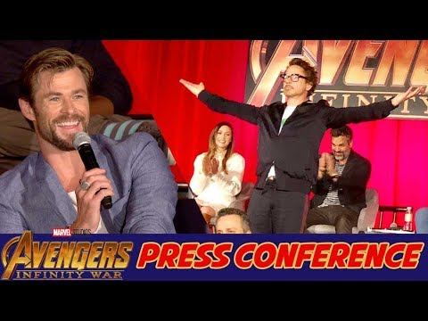 Avengers: Infinity War Press Conference with Kevin Feige, Chris Hemsworth & 24 Celebrities