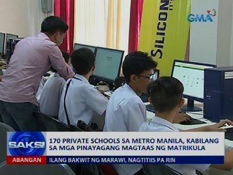 170 private school sa Metro Manila, kabilang sa mga pinayagang magtaas ng matrikula