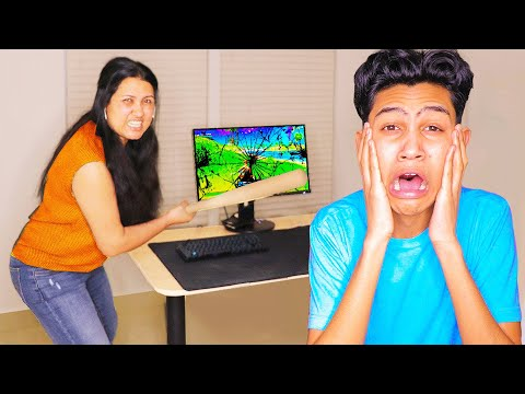 Angry Mom DESTROYS my Gaming Setup for Playing Fortnite!