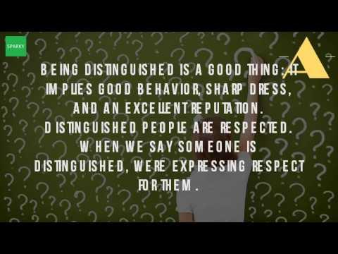 Distinguished gentleman definition