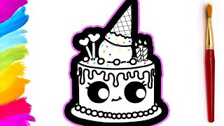 FUNNY CAKE AND ICE CREAM COLORING PAGES FOR KIDS  EggStory