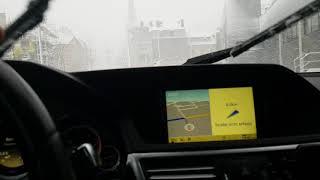 Mercedes E350 4Matic drift on snow!