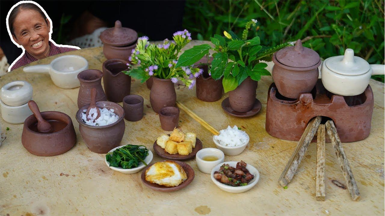 Bà Tân Vlog - Làm Mâm Cơm Siêu Nhỏ | Miniature Cooking
