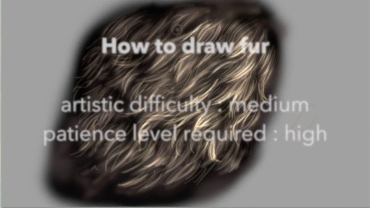 How To Draw Fur In Photoshop Cs6