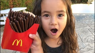 Magic McDonald's Happy Meal! Turns into real chocolate iPhone and French Fries Compilation 5