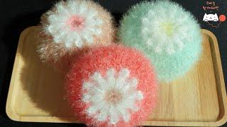 [함께해연*crochet] 코바늘 방울꽃수세미