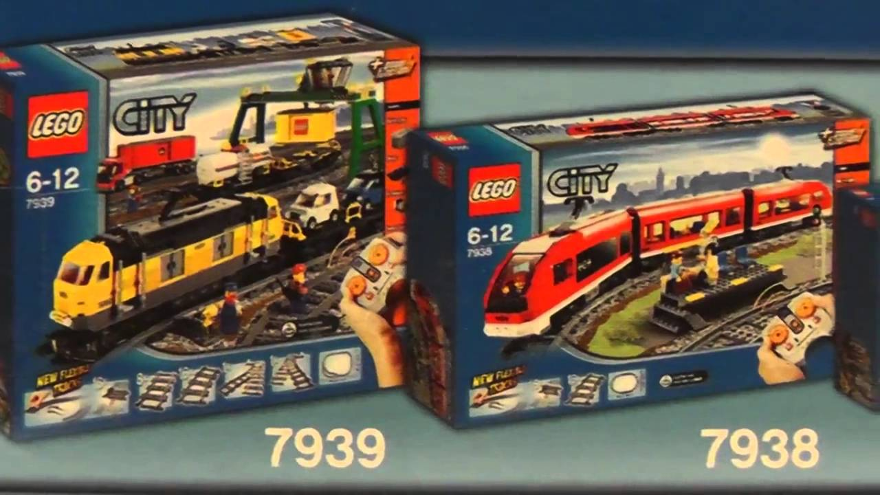 Lego City 3677 Czerwony Pociąg Towarowy Red Cargo Train Youtube