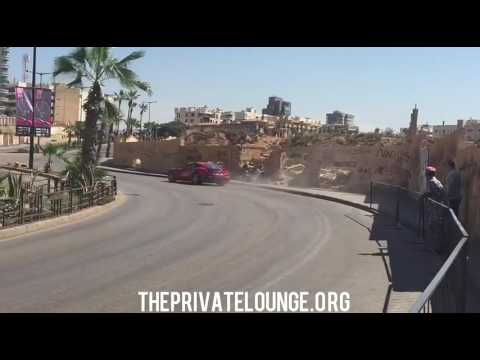 Ferrari F12 CRASH DURING BEIRUT GRAND PRIX