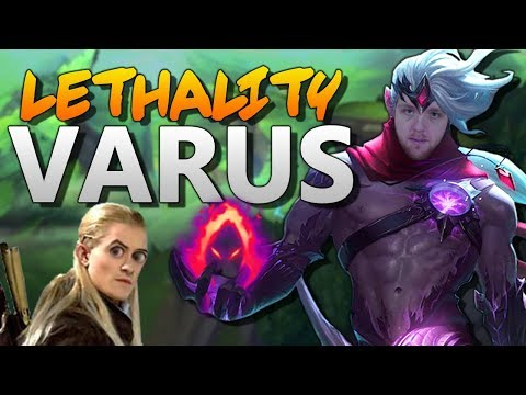 New DH + Lethality Varus = 100% TOO MUCH DAMAGE!!! - Dark Harvest Lethality Varus Mid