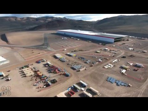 Tesla Gigafactory Easter 2016 Drone Video Update in 4k