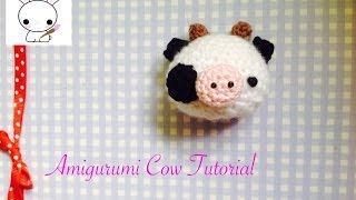 How to crochet a cute little cow - amigurumi tutorial