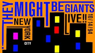 They Might Be Giants - Live!! New York City 10/14/94 (rare promo CD)
