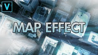 Vegas Pro 15: How To Make A Map/Fake Drone Effect - Tutorial #256