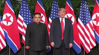 Donald Trump and Kim Jong-un meet