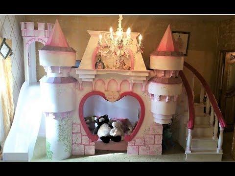Karolina's 1st impression of her New Dream Princess Castle Bed Playhouse