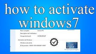 how to activate windows 7 | كيفية تفعيل ويندوز 7