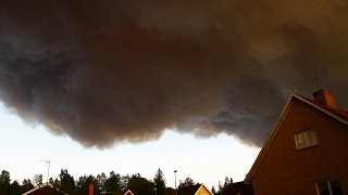 Large Clouds Of Smoke From The Forestry Fire In Västmanland Sweden