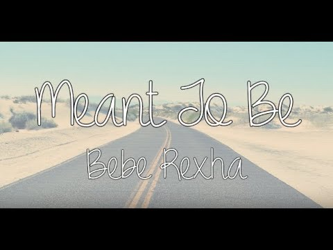 meant to be (solo acoustic version) - bebe rexha - lyric video
