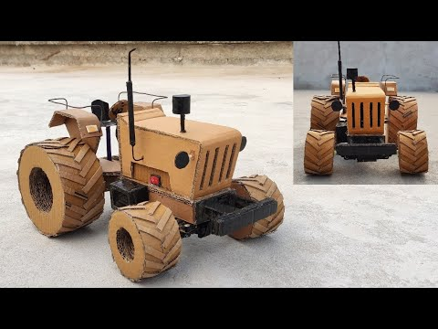 Download || How To Make A BIG TYRE 4WD RC Tractor || How To Make A Tractor ||