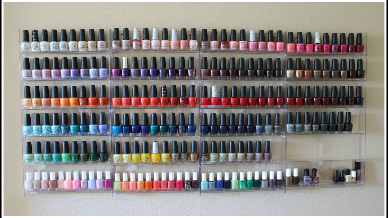 Nail Polish Collection + Storage! 2017 - YouTube