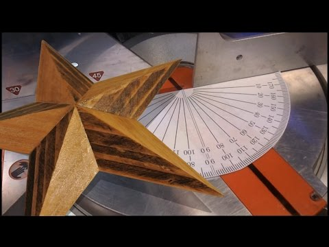 Geometry of a 3D wooden star