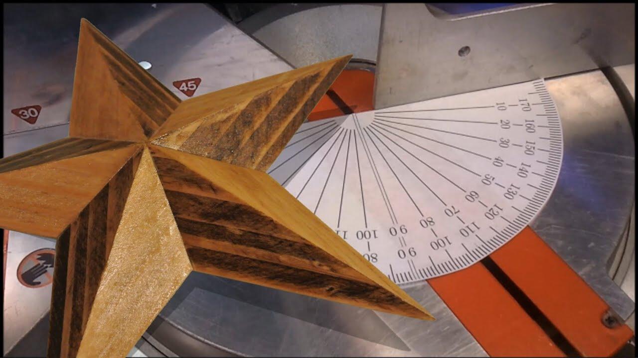 geometry of a 3d wooden star [ 1280 x 720 Pixel ]