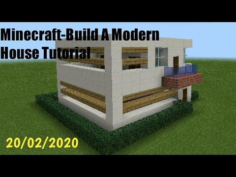 Minecraft-Build a Modern House Tutorial