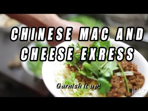 """Chinese Sichuan """"Mac and Cheese"""" Pea Noodles 豌豆杂酱面"""