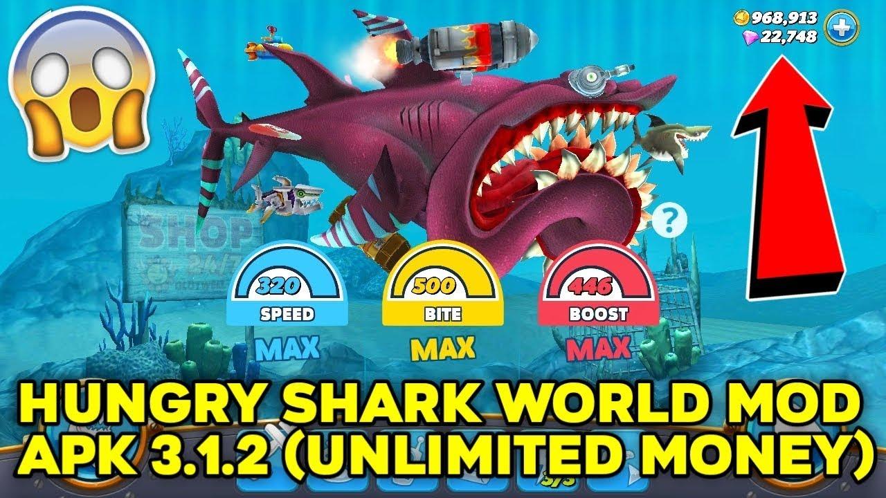 Hungry Shark World Mod Apk 3 1 2 Unlimited Money Youtube