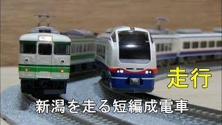 鉄道模型Nゲージカントレール走行・新潟県内を走る短編成電車いろいろ