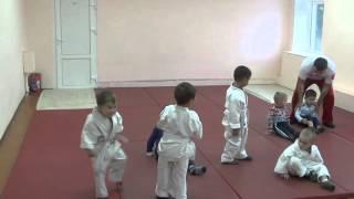 1.11.15 Открытый урок по дзюдо: разминка. Малыши 3 - 4 года. Centre Judo Kids. Feodosiya