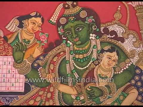 Exhibition of traditional Mysore paintings of Gods and Goddesses - YouTube