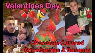 Chocolate Covered Strawberries For Valentines Day! | Danny & Soph